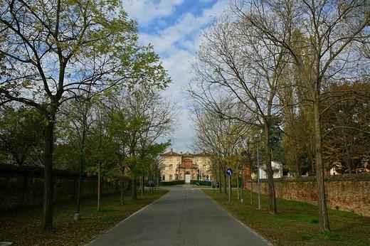 via mascagni, villa pallavicino, busseto, emilia romagna, italia : Stock Photo
