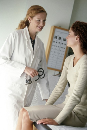 doctor, women, medical examinations : Stock Photo