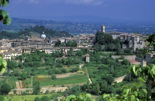 village view, spoleto, italy : Stock Photo