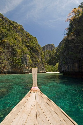 thailand, phi phi lay island, loh sama bay : Stock Photo