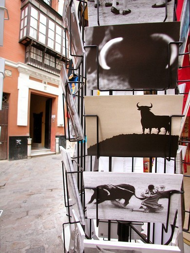 Stock Photo: 3153-603974 postcards, sevilla, andalusia, spain