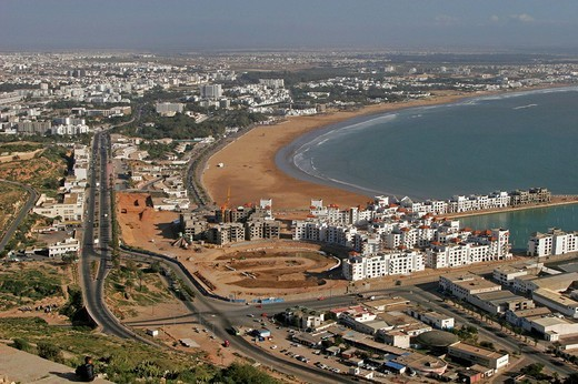 africa, morocco, agadir, new city area : Stock Photo