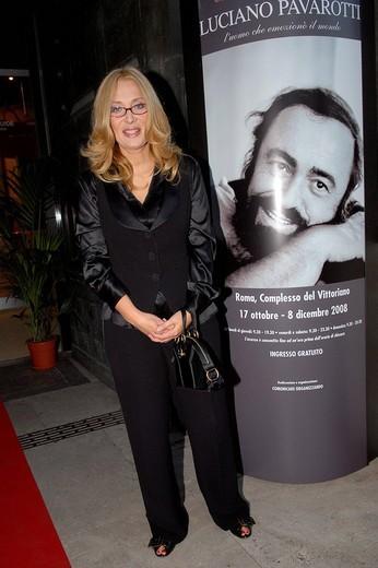 nicoletta mantovani,roma 16_10_2008 ,luciano pavarotti exhibition,photo carlo stella/markanews : Stock Photo