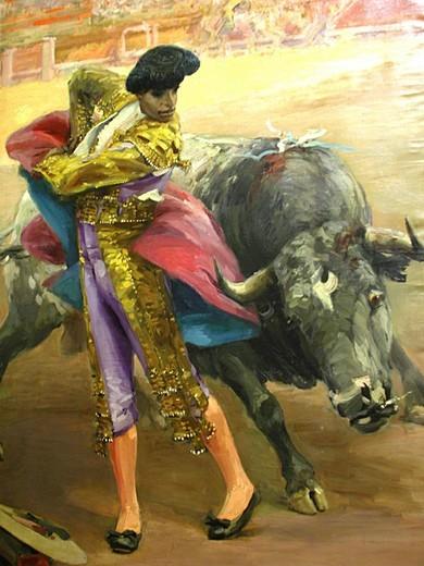 bullfight, sevilla, andalusia, spain : Stock Photo