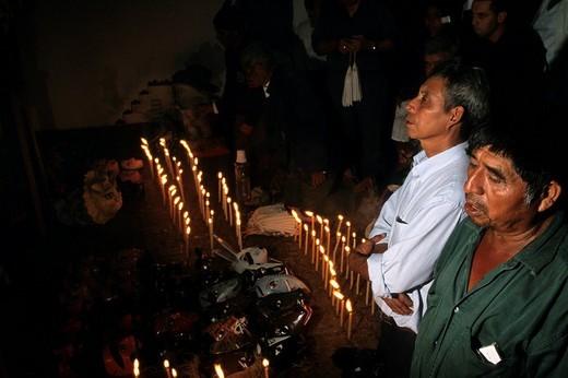 prayer, conquest ball, coban, alta verapaz, guatemala : Stock Photo