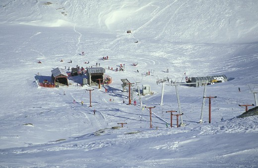 Stock Photo: 3153-608510 val di lei skiing slopes, madesimo, italy
