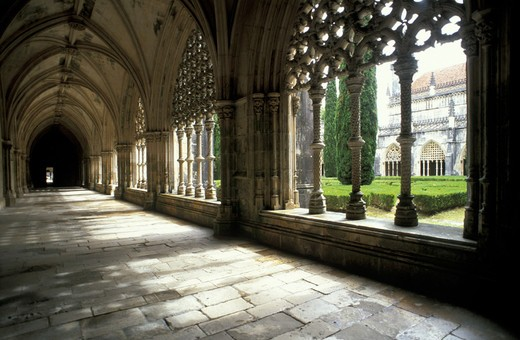 s.maria monastery, batalha, portugal : Stock Photo