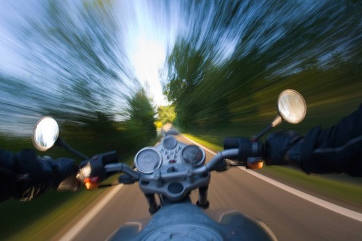 Stock Photo: 3153-609262 bike on the road