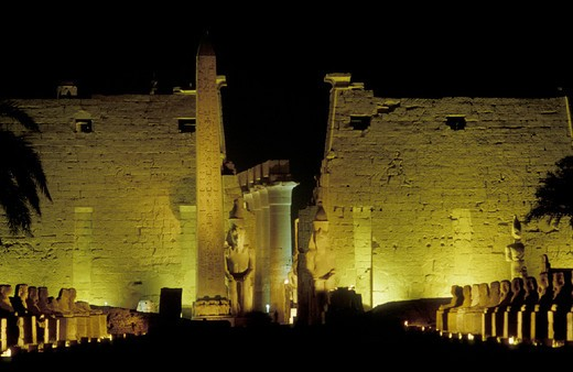 luxor temple, luxor, egypt : Stock Photo