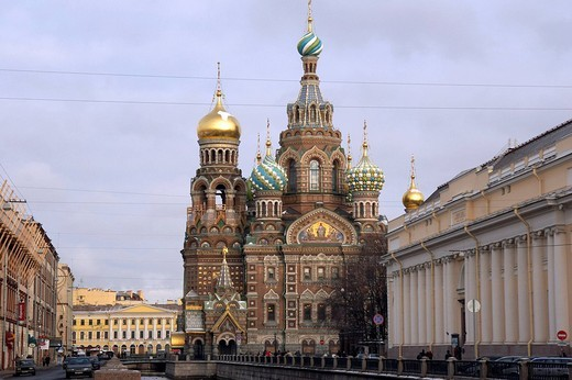 Stock Photo: 3153-613367 russia, st.petersburg, church of the saviour on spilled blood