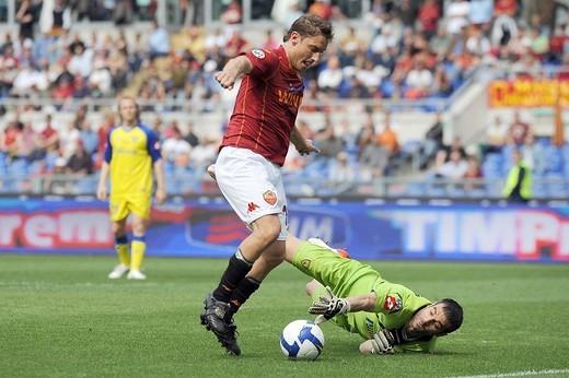 roma 2009, serie a football championship 2008/2009, roma_chievo : Stock Photo
