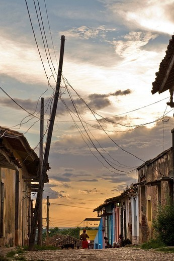 tramonto, trinidad, cuba : Stock Photo