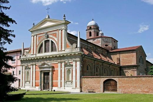 Stock Photo: 3153-615135 europe, italy, piedmont, bosco marengo, st croce monastery