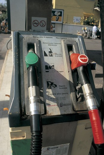 a petrol pump : Stock Photo