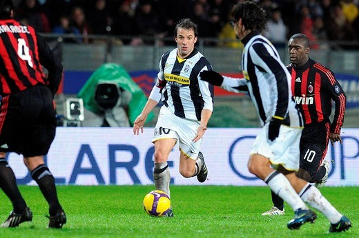 alessandro del piero,torino 14_12_2008 ,serie a football championship 2008_2009 ,juventus_milan 4_2,photo giuliano marchisciano/markanews : Stock Photo