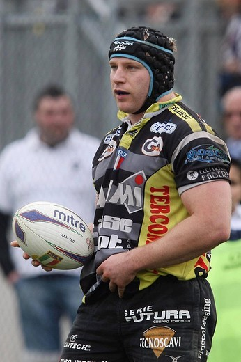 Stock Photo: 3153-615795 leonardo ghiraldini, parma 2009, rugby top ten championship 2008_2009, plusvalore gran parma_cammi calvisano