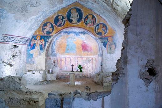 Stock Photo: 3153-616932 europe, italy, umbria, narni, st domenico church, frescos