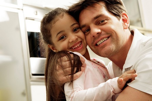 man with little girl : Stock Photo