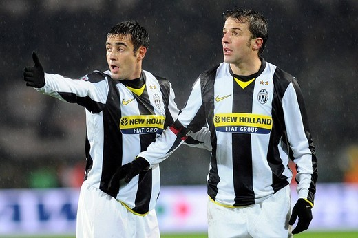 marco marchionni and alessandro del piero,torino 14_12_2008 ,serie a football championship 2008_2009 ,juventus_milan 4_2 ,photo giuliano marchisciano/markanews : Stock Photo
