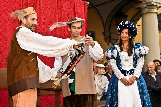 historical recalling, san nicolas day, castelfranco emilia, emilia romagna, italia : Stock Photo