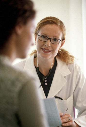 doctor, women, medical examinations : Stock Photo