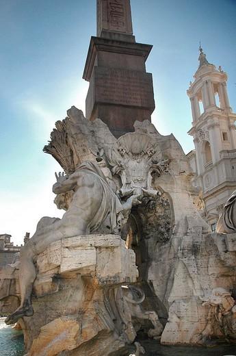 europe, italy, lazio, rome, piazza navona : Stock Photo