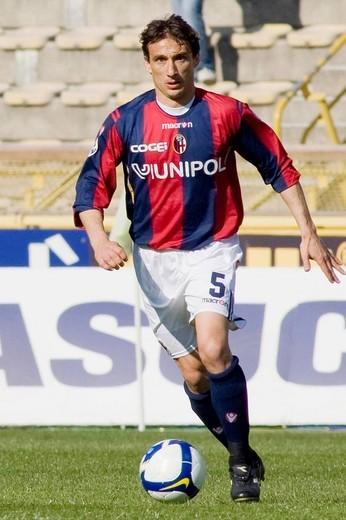 Stock Photo: 3153-621681 sergio volpi, bologna 2009, serie a football championship 2008/2009, bologna_cagliari