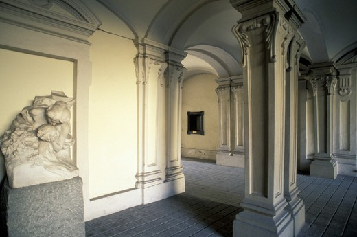 civic art gallery, asti, italy : Stock Photo