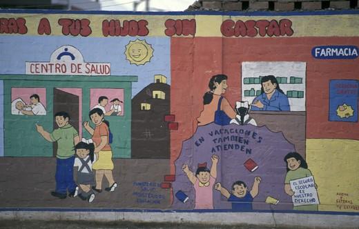 murales, lima, peru : Stock Photo