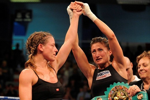 Stock Photo: 3153-623457 simona galssi, stefania bianchini,milano 24_10_2008,world championship WBC women flyweight,photo paolo bona/markanews,