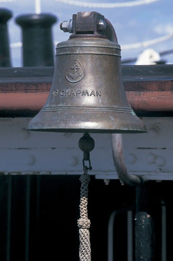 bell, chapman sailing ship and hotel, stockholm, sweden : Stock Photo