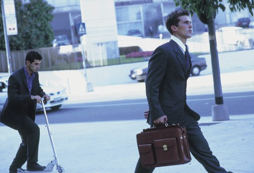 men walking in the street : Stock Photo