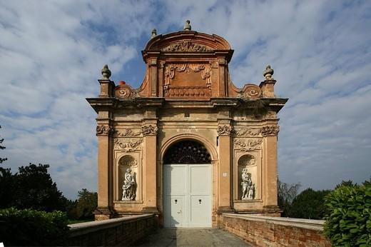 Stock Photo: 3153-625842 ingresso villa pallavicino, busseto, emilia romagna, italia