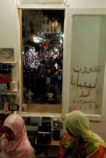 Night life, Medina, Tripoli, Libya, Nort Africa : Stock Photo