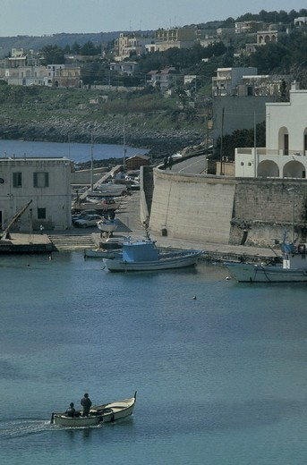 italy, puglia, tricase porto, harbour : Stock Photo