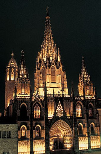 spain, barcelona, gothic quarter, cathedral : Stock Photo