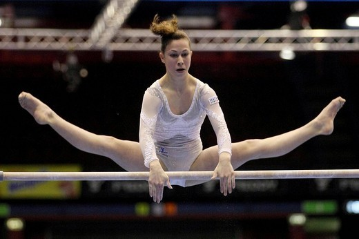 emily armi, milano 2009, europeanartisticgymnasticchampionships : Stock Photo