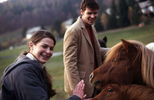 couple, pony : Stock Photo