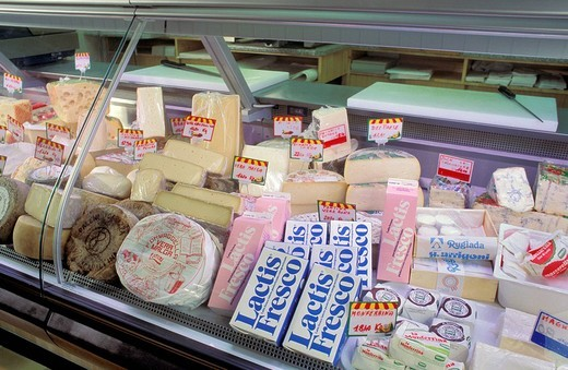 Stock Photo: 3153-629996 dairy product on sale, alzano lombardo, italy