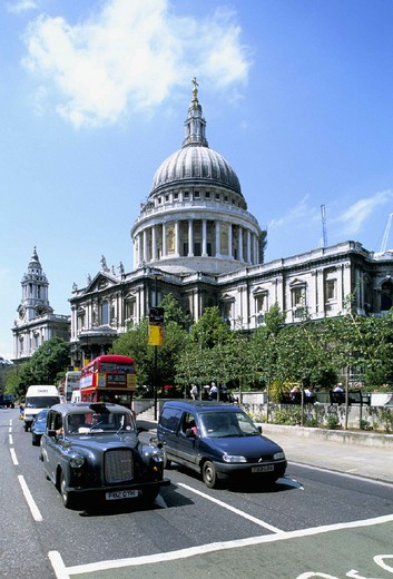 europe, england, london, saint paul´s cathedral, 1670-1711 : Stock Photo