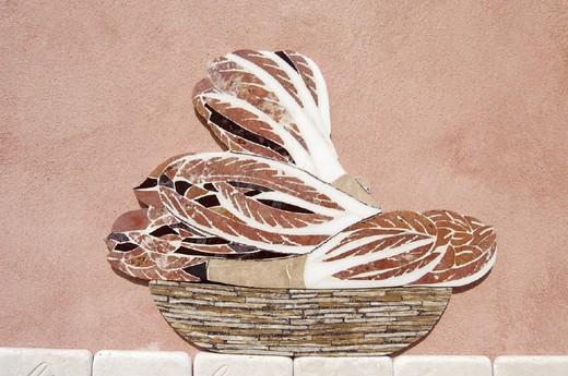 Stock Photo: 3153-630483 italy, veneto, treviso province, mosaic, chicory