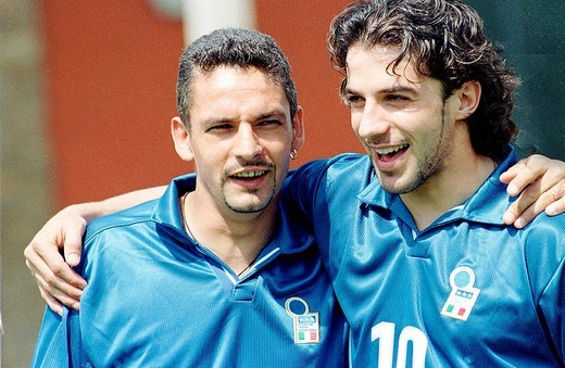 roberto baggio, alessandro del piero : Stock Photo