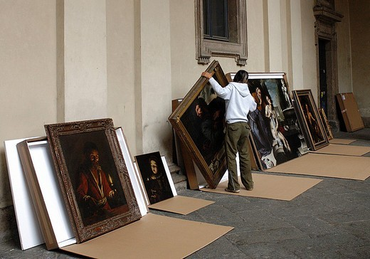 europe, italy, milan, brera art gallery : Stock Photo