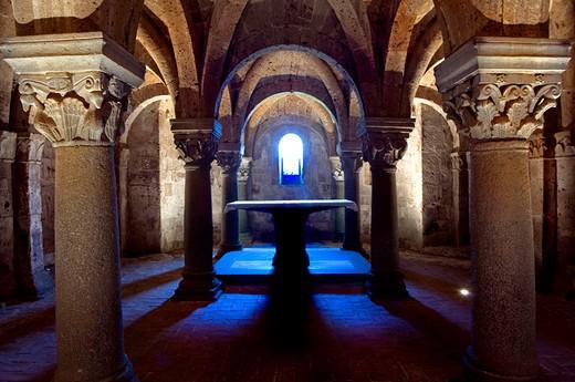 europe, italy, lazio, acquapendente, cathedral : Stock Photo