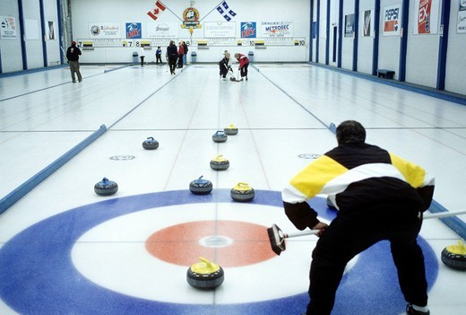 curling, canada : Stock Photo