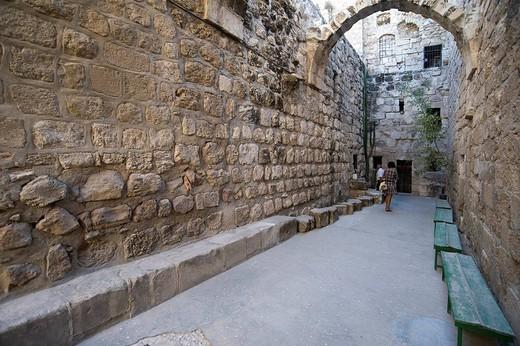 chiesa francescana, resti dell´antico convento, betania, giudea, palestina : Stock Photo