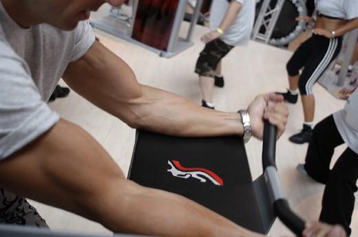 rimini, fitness fair : Stock Photo