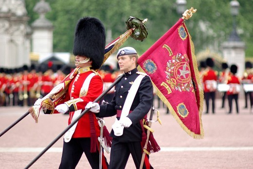 Stock Photo: 3153-637094 buckingham palace, london, great britain