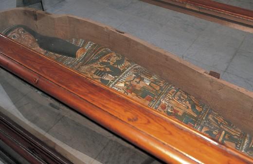 egypt, alexandria, greek roman museum, sarcophagus : Stock Photo