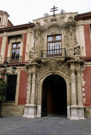 patio de banderas, siviglia, andalusia, spain : Stock Photo